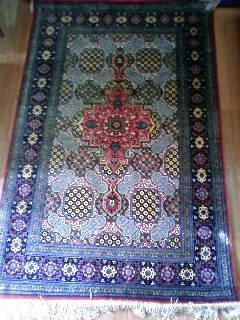 ペルシャ絨毯 玄関 シルク