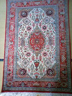 ペルシャ絨毯 シルク クム 玄関