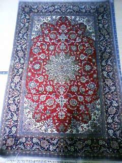 ペルシャ絨毯 イスファハン ウールxシルク