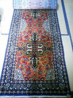 ペルシャ絨毯 イスファハン 320 x 88 ウール&シルク