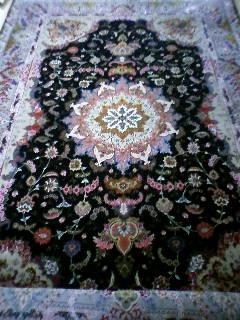 ペルシャ絨毯 タブリーズ ウールxシルク 307x200