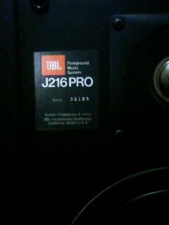 スピーカー JBL J216PRO
